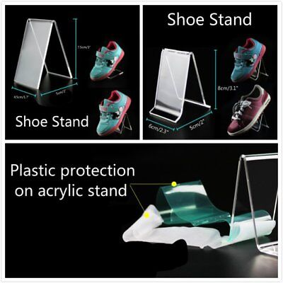 A or V Shape Clear Acrylic Shoe Shoes Retail Display Stand Rack Sandal Holder