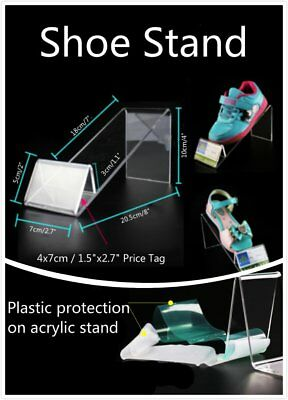 2 4 10x 18cm Children Small Clear Acrylic Shoes Retail Display Stand Rack Holder