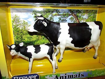 Breyer Black & White Holstein Cow & Calf #1732  Age: 8+ 1:9 Scale NIB!