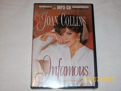 INFAMOUS  by JOAN COLLINS  (2013, MP3 CD, Unabridged)