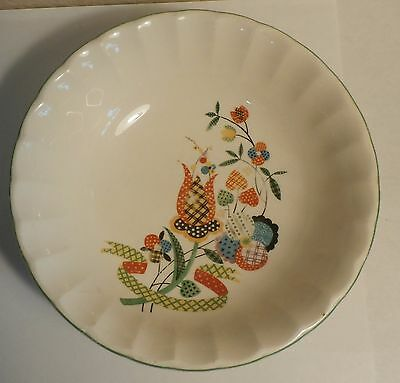 "WS George Vintage Bolero Cereal Bowl Salad 6 1/4"" x 1 3/4"" deep Vibrant Colors"