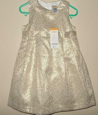 NWT Girls 2T GYMBOREE Party Gold Dress Lined Tulle Petticoat