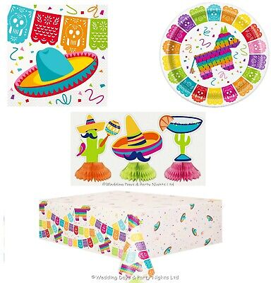 Mexican Fiesta Wild West Theme Napkins Paper Plates Tablecover Party Tableware  sc 1 st  PicClick UK & MEXICAN FIESTA WILD West Theme Napkins Paper Plates Tablecover Party ...