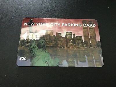 NEW YORK CITY PARKING METER CARD Value $20 - FULL $20.00 ON CARD - NEVER USED