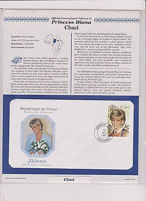 Chad Princess Diana Tribute  First Day Cover   Free Ship U.s