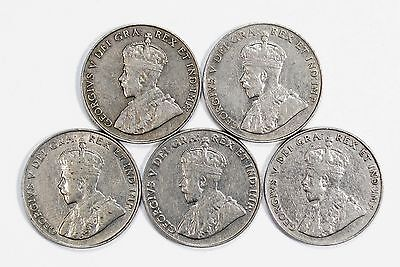 Lot of 6 1922 - 1926 Canada 5c Nickels VF Very Fine & Circulated #99219 X R