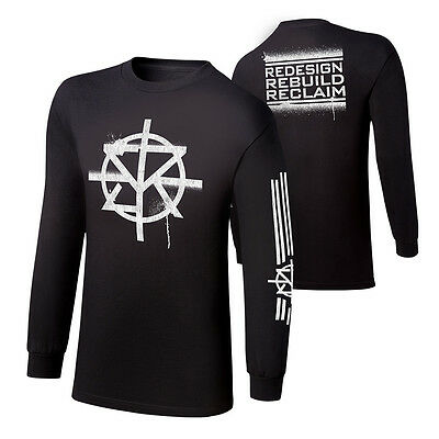 Wwe Seth Rollins Redesign,rebuild,reclaim Youth Long Sleeve T-Shirt Kids New