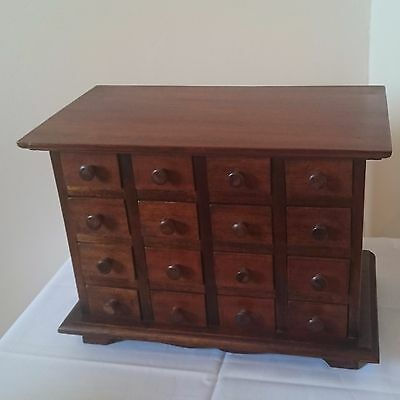16 Drawer Apothcary Spice Chest