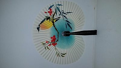 "Peoples Republic of China: Metal/Paper 10"" X 10"" HAND PAINTED FAN   170701012"