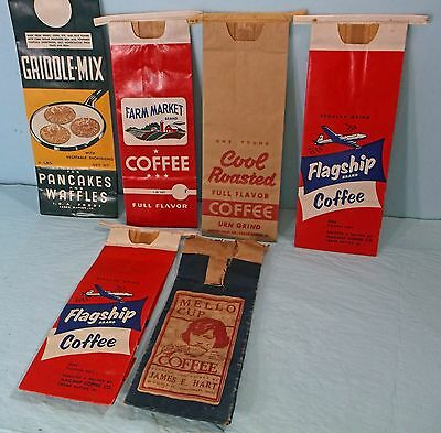 """VINTAGE """"GRIDDLE-MIX and COFFEE BAGS    CEDAR RAPIDS, IOWA"""