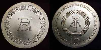 EAST GERMANY 1971 Silver 10 Mark BU