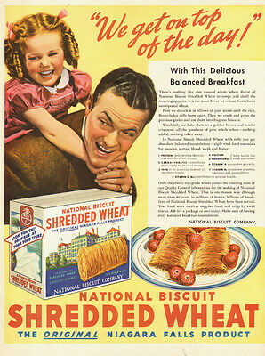1955 vintage cereal AD , Nabisco Shredded Wheat National Biscuit Co.  -090514