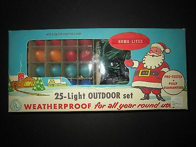Very Rare, Vintage Noma Christmas Lites, 25 Light Outdoor Set, New In Box!