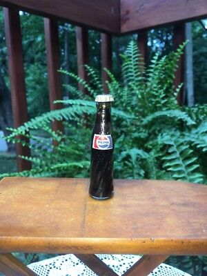 Vintage Mini Glass Pepsi Soda Bottle With Original Cap - Sample -
