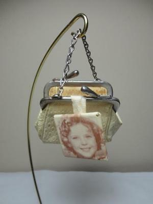 RARE 1930 SHIRLEY TEMPLE DOLL COIN PURSE with MIRROR CHARM