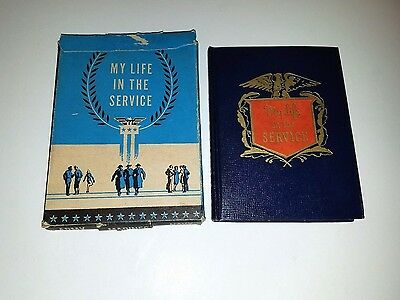 """Vintage 1941 Diary """"my Life In The Service""""  Of Pfc. Adrien Haon Jr. In 1943"""