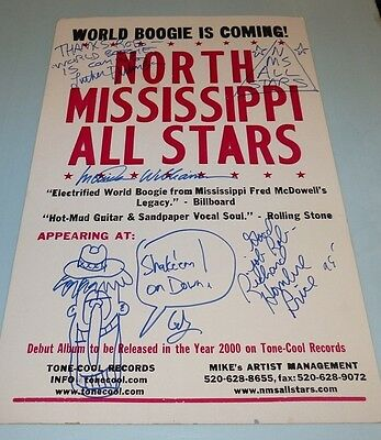 North Mississippi All Stars Lucinda Williams Signed Poster Boxing Style Austin