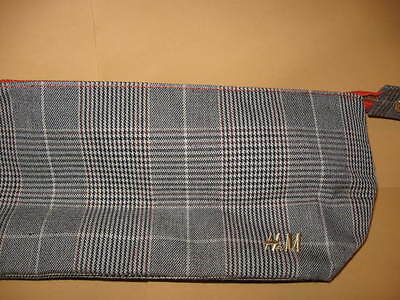 H&M small CLUTCH BAG cosmetic Plaid HM H & M unused