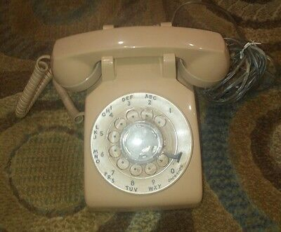 Vintage Western Electric Bell System Tan-Colored Rotary Phone