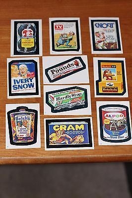 1982 Topps Chewing Gum  Wacky Packages Stickers Set of 10