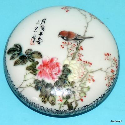 Chinese Porcelain Wonderfull Handpainted Famille Rose Signed Republic Seal Box