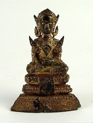Splendid Antique 19thC Lord Buddha, Thailand or Myanmar (Burma)  c.
