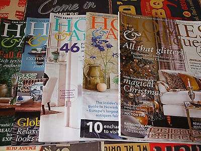 Homes & Antiques magazines x 5 July/Aug/Sept/Oct/Dec 2015<free postage>