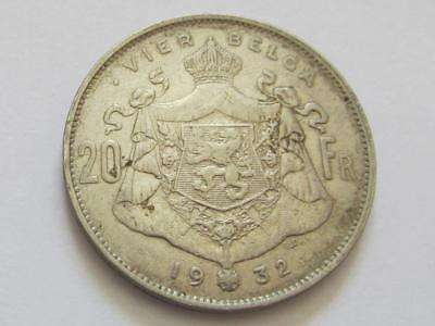 Belgium 20 Francs dated 1932 Position B (KM#102) - Good collectable coin