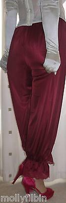 Vintage inspired Victorian~Edwardian style dark red bloomers~pettipant~culottes