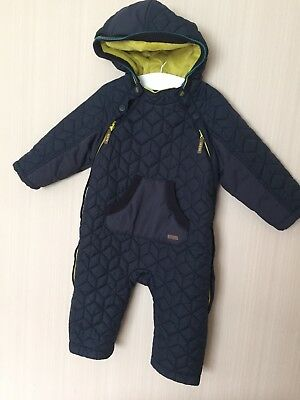 ⭐️Ted Baker Baby Baker Boys Navy Quilted Snowsuit Pramsuit - 12 - 18 Months⭐️