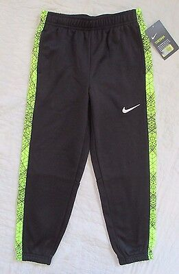 NIKE Dri-Fit Boys Therma Pants Sweat Athletic Black / Volt Size 7  NWT