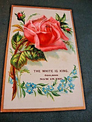 Victorian Trade Card For White Sewing Machine Co White Is King