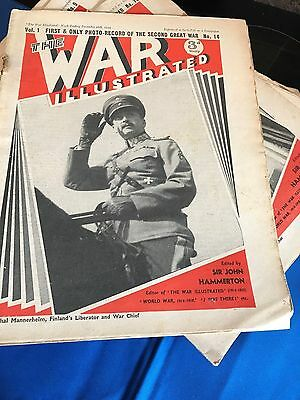46 Copies THE WAR ILLUSTRATED WW2 WWII MAGAZINES SECOND GREAT WAR ALL DIFFERENT