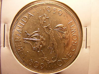 Bermuda Silver Crown, 1959, 350th Anniversary - Colony Founding, UNCIRCULATED