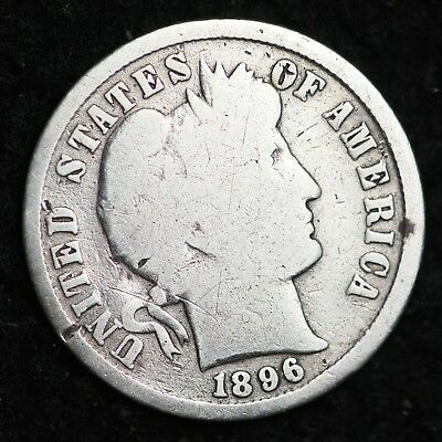 1896 Barber Dime CHOICE G FREE SHIPPING E140 KM