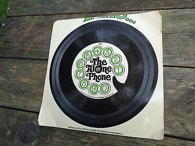 vintage cardboard record Advertising THE ALONE PHONE 1960's Telephone commercial