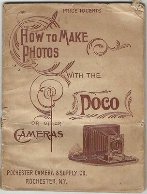 1890s How to Make Photos with the Poco or other Cameras - Photography