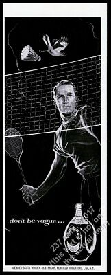 1953 badminton player art Haig & Haig Scots Scotch whisky vintage print ad