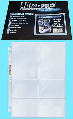 50 ULTRA PRO PLATINUM 8-POCKET Pages Protector Vintage Bowman Card Topps Trading