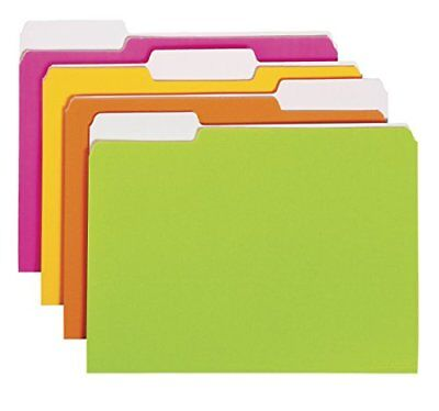 Smead File Folder 1/3-Cut Tab Letter Size Assorted Neon Colors 12 per Pack 11925