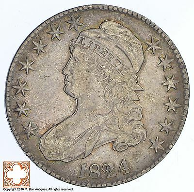 1824 Capped Busted Half Dollar *XB76