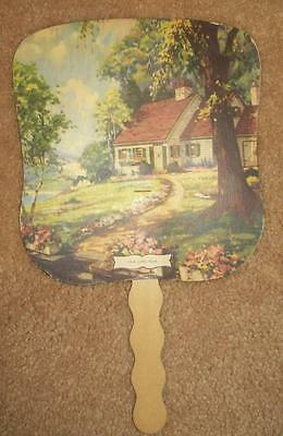Old Advertising Premium Fan CO Fuss Furniture Funeral Directors Taneytown MD