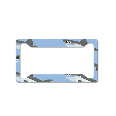Colorful Horses On Grey Auto Car License Plate Frame Tag Holder 4 Hole