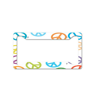 Colorful Dogs Auto Car License Plate Frame Tag Holder 4 Hole