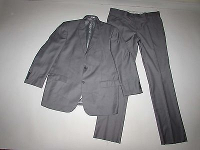 Giorgio Fiorelli Men's 2 Button Suit Size 46 Long W40 NWT Light Gray Flat Front