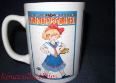 MARY ENGELBREIT I'm In Charge Coffee Cup Mug NEW in Box!