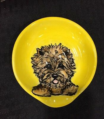 Cairn Terrier  Hand Painted Spoon Rest By Darci