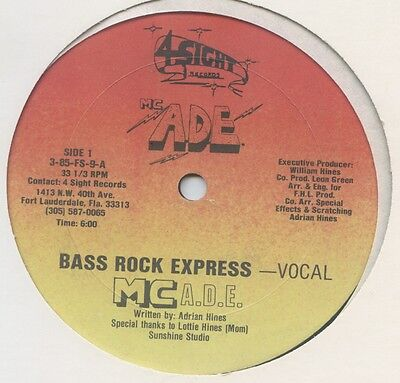 "MC ADE - Bass Rock Express US 12"" Electro"