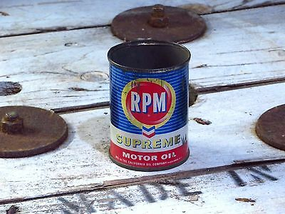 RPM Supreme motor oil can mini additive can or promotion