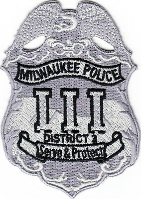 WISCONSIN  -  MILWAUKEE  POLICE  DEPARTMENT   DISTRICT III   Patch